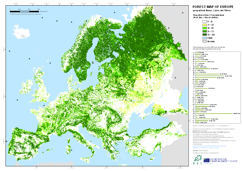 forest map of europe